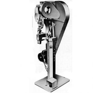 Stimpson No. 482 Dual Feed: Automatic Electric Eyelet / Grommet Machine with Automatic Clamper