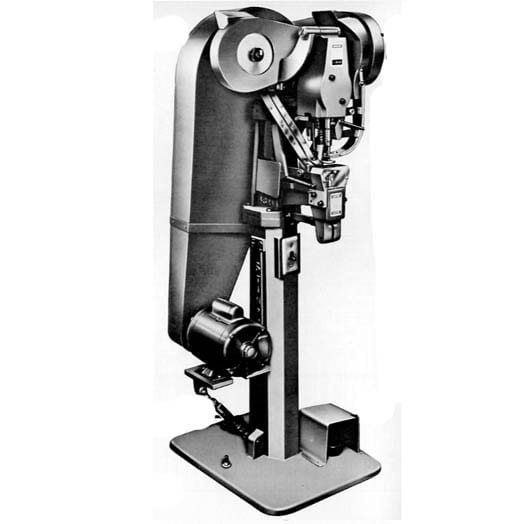 Stimpson No. 482 Single Feed: Automatic Electric Eyelet / Grommet Machine with Automatic Clamper